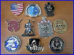 10 Special Ops Navy Seal CIA PJs Combat Control Little Ceek Challenge Coins