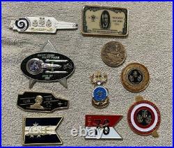 10 US Navy CVN CPO Challenge coin lot