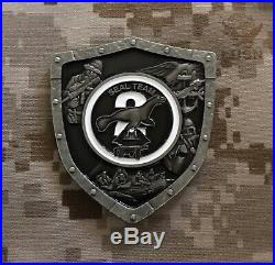 2 1/2 NAVY SEAL TEAM 2 CHIEF CPO COIN TWO NAVAL SPECIAL WARFARE RARE NEW low#46