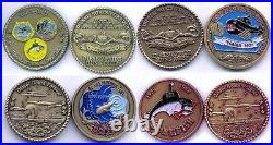 4 Barbel Class Submarine Commemorative Navy Never Circulated Challenge Coin Set