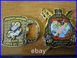 7 USN CPO Challenge Coins Mario Yoshi Constitution USS Monsoon CVW-5 PNS SD