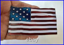 AMERICAN FLAG BETSY ROSS OLD GLORY 1776 USA CPO USN CHALLENGE COIN 4th of July