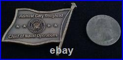 AUTHENTIC 4 Star Admiral Roughead CNO Chief Naval Operations Navy Challenge Coin