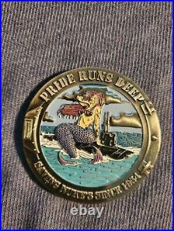 A-Gang Mermaid Saving Nukes Since 1954 2 Inch USN Submarine Challenge Coin RARE