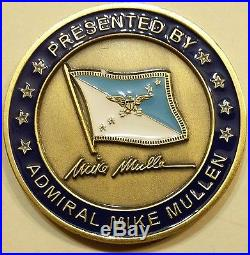 Admiral Mike Mullen Chairman Joint Chiefs of Staff CJCS Navy Challenge Coin