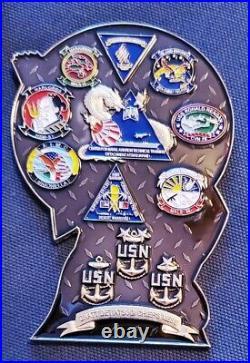 Amazing 3.5 Navy USN CPOA Challenge Coin Japan Geisha