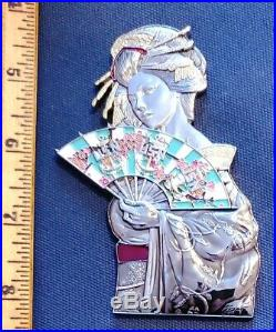 Amazing 3.5 Navy USN CPOA Challenge Coin Japan Geisha Atsugi FY-19