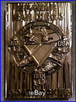 Amazing 3 Navy USN CPO Mess Challenge Coin Spawar Black