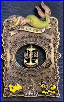 Amazing 4 Navy USN CPO Pride Challenge Coin El Jefe Mermaid Anchor Spinner