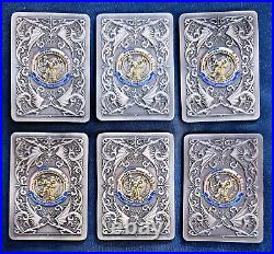 Amazing 6pc Card Set 3 Navy USN CPO Chiefs Challenge Coins ATG PACNORWEST