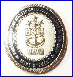 Authentic MCPON #13 United States Navy Mike Stevens USN Challenge Coin -REAL