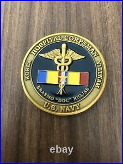 Authentic US Navy SEAL Team Two ST2 Erasmo Doc Riojas Challenge Coin RARE