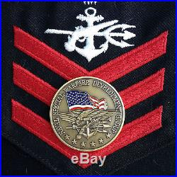 Authentic U. S. Navy Seal Team Six 6 Original Devgru / Jsoc Bronze Challenge Coin