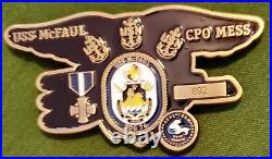 Awesome 2.5 US Navy Seal Team 4 Challenge Coin USS McFaul DDG-74 CPO