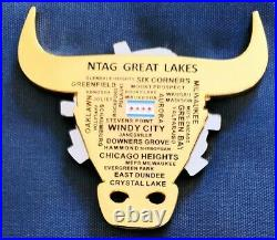 Awesome 3.5 Navy USN CPOA Chiefs Mess Challenge Coin NTAG Great Lakes Chicago