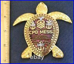 Awesome 3.5 Navy USN CPO Pride Challenge Coin Welcome Class 127 RWB Turtle
