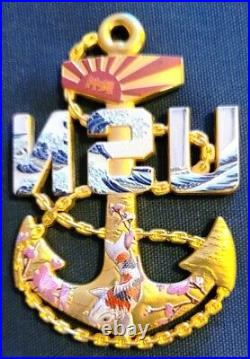 Awesome 3.5 Navy USN Chiefs Pride CPO Anchor Challenge Coin