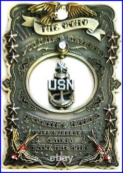 Awesome 3.5 Navy USN Chiefs Pride CPO Challenge Coin Ocho
