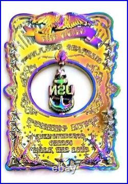 Awesome 3.5 Navy USN Chiefs Pride CPO Challenge Coin Ocho Oil Slick OD