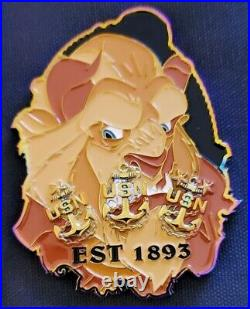 Awesome 3 Navy USN Chiefs Pride CPO Challenge Coin OD Beastmode