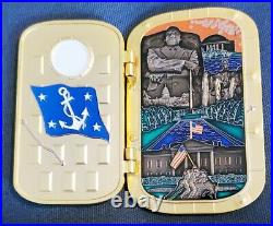 Awesome 3 USN Navy CPO Chiefs Challenge Coin SECNAV Chiefs Mess Door Hatch
