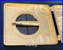 Awesome 3 USN Navy Seals Logistics Supply Unit Sniper Bullet Case Gold-Tone