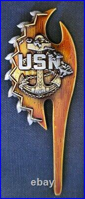 Awesome 4.5 Navy USN Chiefs Mess CPOA Challenge Coin NRD Recruiting Hawaii