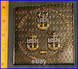 Awesome 4 Navy USN CPOA Challenge Coin Navsup Norfolk Gameboard