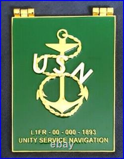 Awesome 4 Navy USN CPO Chiefs Pride Challenge Coin Lifer Book HTF