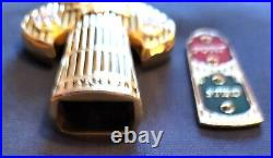 Awesome 4 Navy USN Chiefs Mess CPO Anchor Holder Challenge Coin Seals Tribute