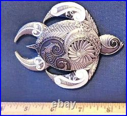 Awesome 4 Navy USN Chiefs Pride CPO Challenge Coin Hawaii Turtle
