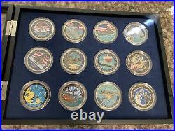 Bradford Exchange US Navy Challenge Coin Set collection