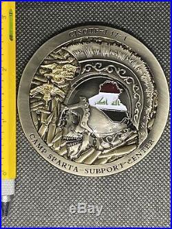 CJSOTF Camp Sparta Support Center Iraq 17-1 U. S. Navy Seal Challenge Coin