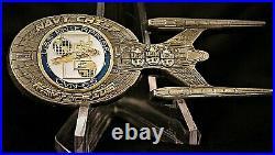 CVN-65 USS ENTERPRISE TREK NCC-1701B Starship Navy Chief CPO Challenge Coin