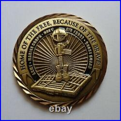 Challenge Coin 10th Anniversary 9-11 Never Forget 2001-11 Army Marine Corps Navy