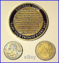 Challenge Coin Navy SEAL Code NSWG-1 TRADET-1 UDT SEAL Code
