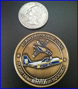 Challenge Coin U S Navy And Marine Corps Blue Angels
