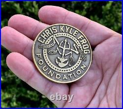 Chris Kyle Bone Frog Foundation Ckff Navy Seals Team 3 Sniper Cpo Challenge Coin