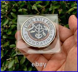 Chris Kyle Bone Frog Foundation Navy Seals Team 3 Sniper Seal Cpo Challenge Coin
