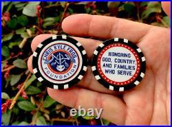 Chris Kyle Bone Frog Navy Seals Sniper Seal Poker Chip Challenge Coin Token CPO