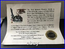 Chris Reeve Knife Navy Seal Neil Roberts Warrior Knife & Challenge Coin
