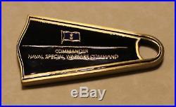 Commander Naval Special Warfare Command SEALs 2-Star Flipper Navy Challenge Coin