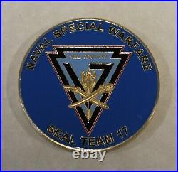 Commander Naval Special Warfare SEAL Team Seventeen / 17 Navy Challenge Coin