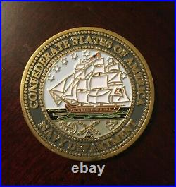 Confederate Navy CSS Shenandoah 150th Anniversary Challenge Coin Rare Historic