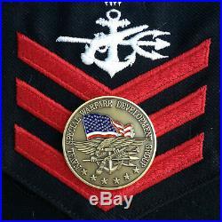 Custom Knife Tanto Cpm 3v Tendick / Jsoc U. S. Navy Seal Team 6 Challenge Coin