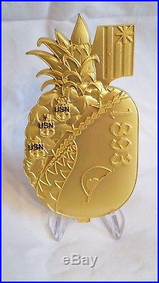 EXTREMELY RARENavy Chief CPO Challenge Coin Hawaii pineapple bomb no nypd msg