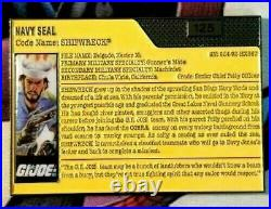 EXTREMELY RARE GI JOE Navy Seal Shipwreck Challenge Coin Numbered #125