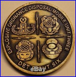 Explosive Ordnance Disposal EOD Mobile Unit 3 DET 86 MK6 Navy Challenge Coin