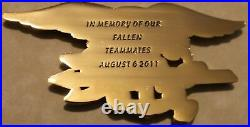 Extortion 17 Memory of Fallen SEAL Teammates Aug 2011 Navy Challenge Coin