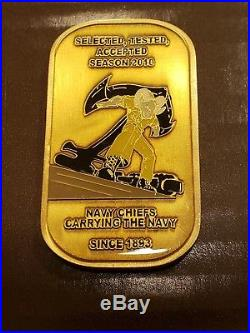 Great Lakes Chicago Navy Chief CPO Challenge Coin Rare Hatch